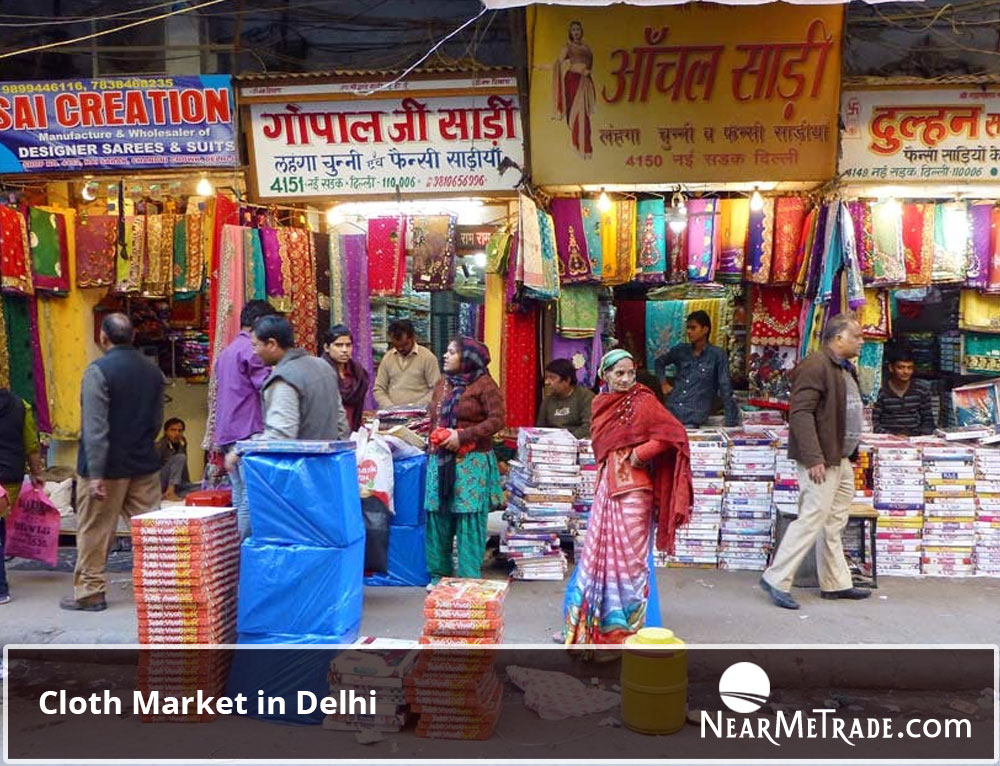 Cloth Market in Delhi