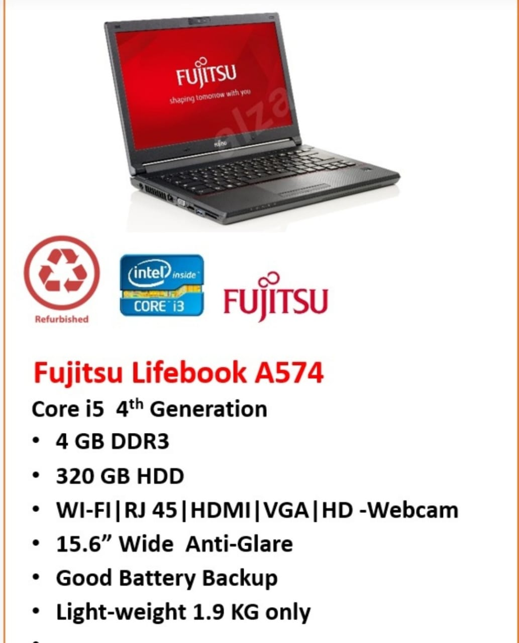 Branded Refurbished Laptop & Desktop Import Quality Commercial Systems