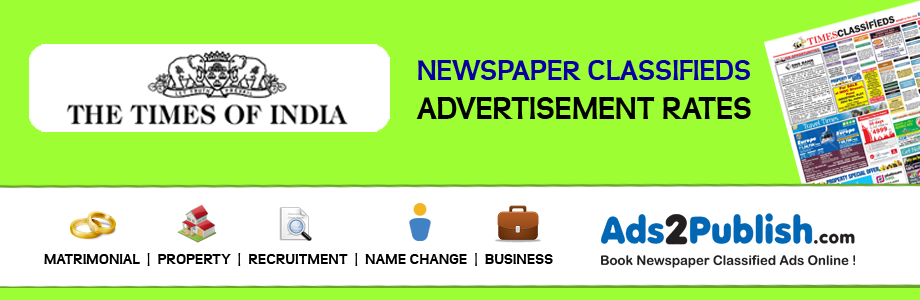Times of India Advertisement