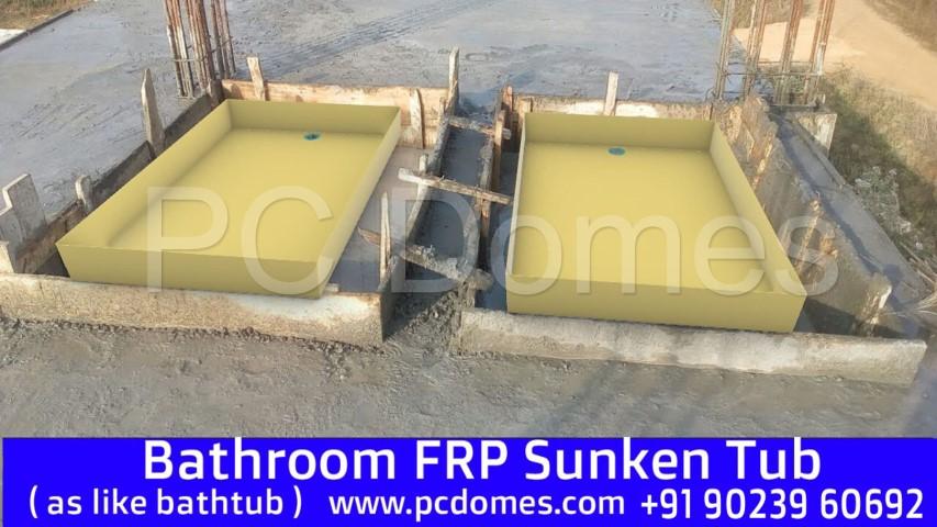 Gel Coated Fiberglass Sunken Tub
