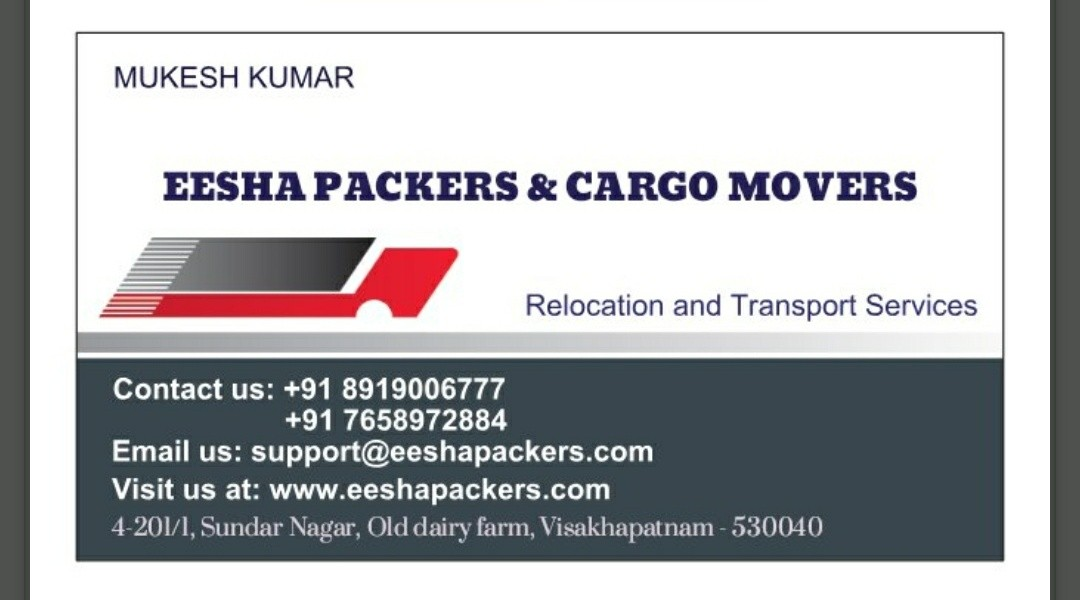 EESHA packers &  movers