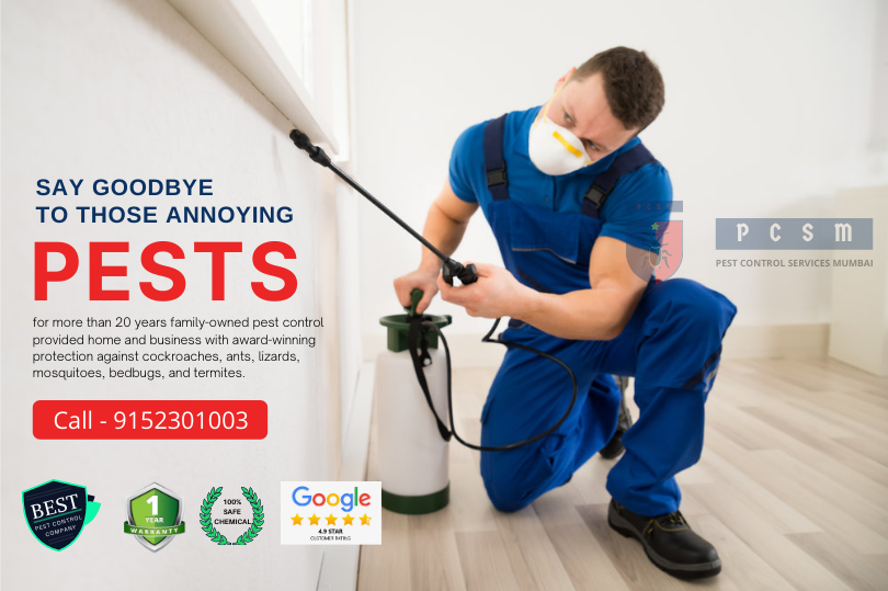 Pest Control Services in Mumbai PCSM