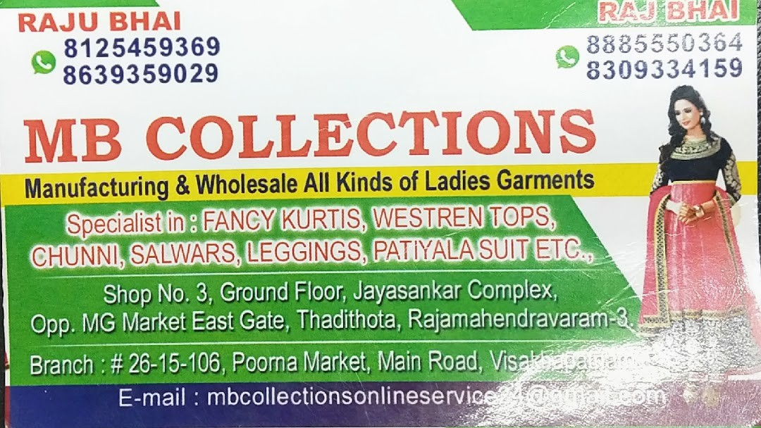 M B COLLECTIONS