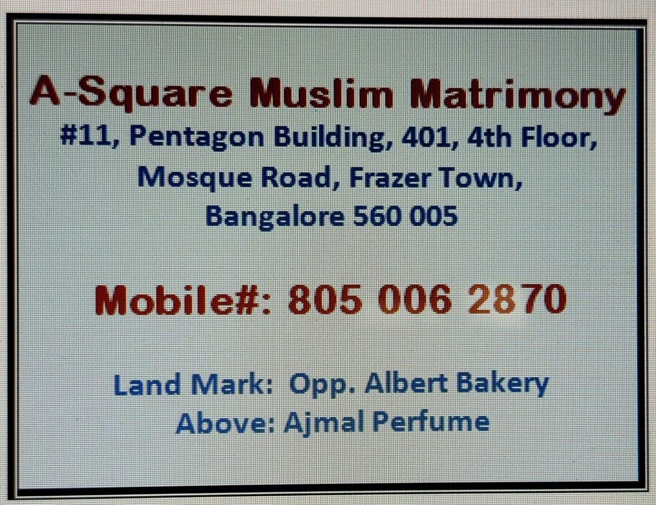A Square Muslim Matrimony