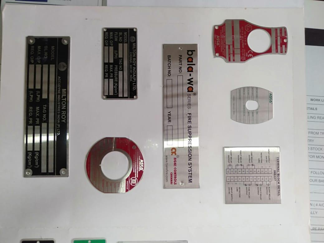 Bashyam Graphic Technologies -  Nameplate Manufacturer